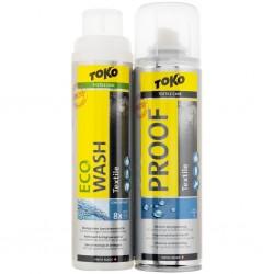 Toko Duo-Pack Textile Proof & Eco Textile Wash / Imprägniermittel / Pflegemittel, 2 x 250 ml